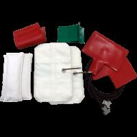 Комплект оснастки к вулканизатору Комплекс-2 для легковых шин (2 гибкий нагреватель и 2 пневмоподушка в чехле, арт. 01 114)